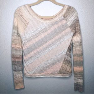Free People Wool Blend Ribbed Sweater